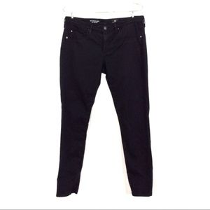 The legging ankle brushed cotton black skinny pant
